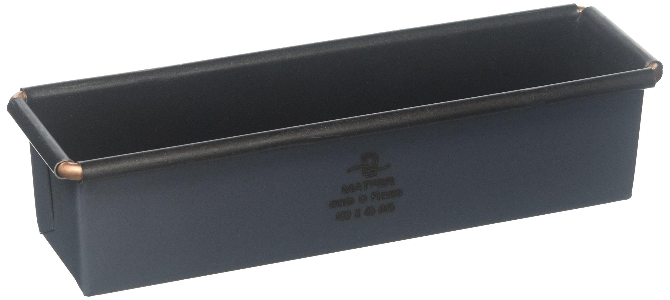 Matfer Bourgeat Exopan Steel Non-Stick Mini Loaf Mold, Black