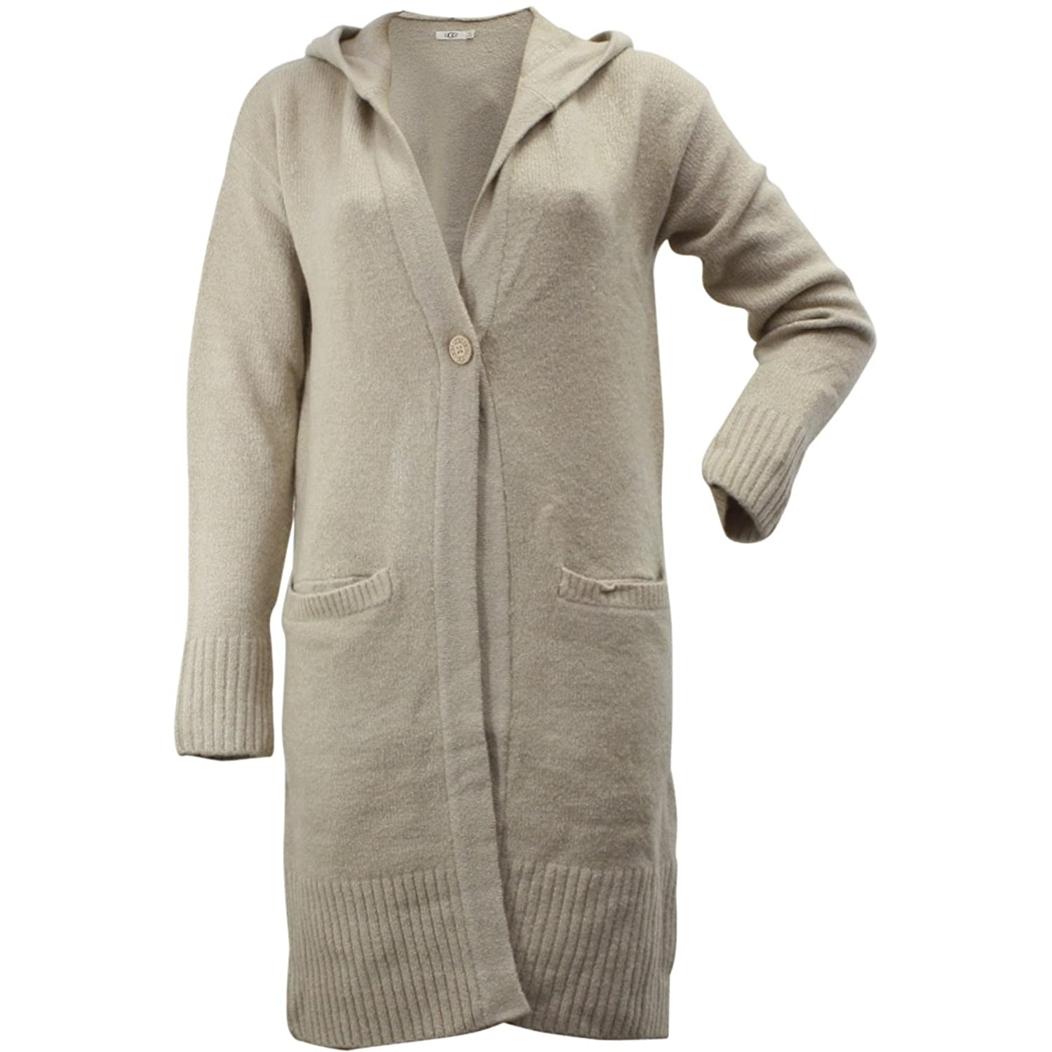 Ugg Women's Judith Single Button Natural Hooded Cardigan Sweater ...