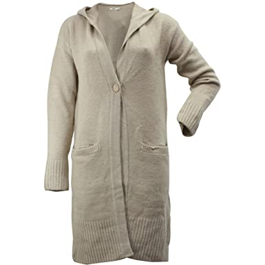 9bed726a9ca UGG Women's Judith Single Button Natural Hooded Cardigan Sweater at ...