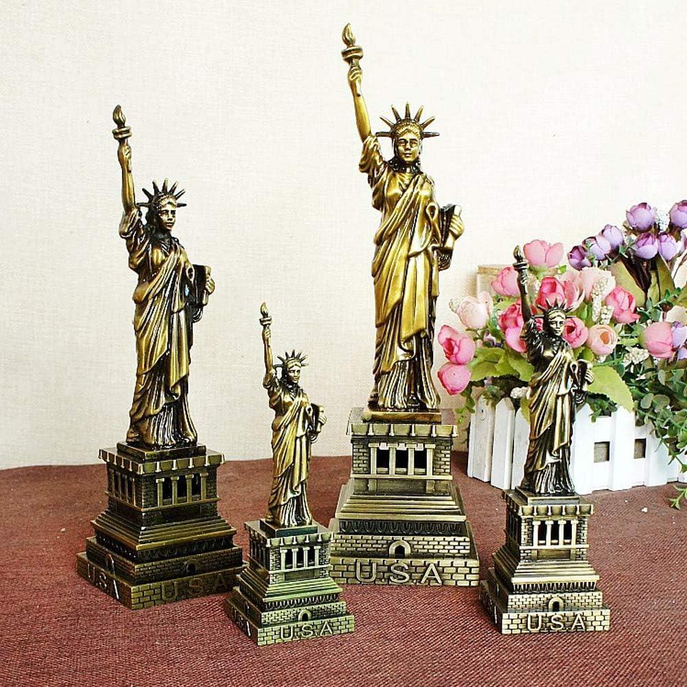 Windmill Statua Statuetta Arte Cristiana Modello Decorazione casa Ottone Antico Ghisa