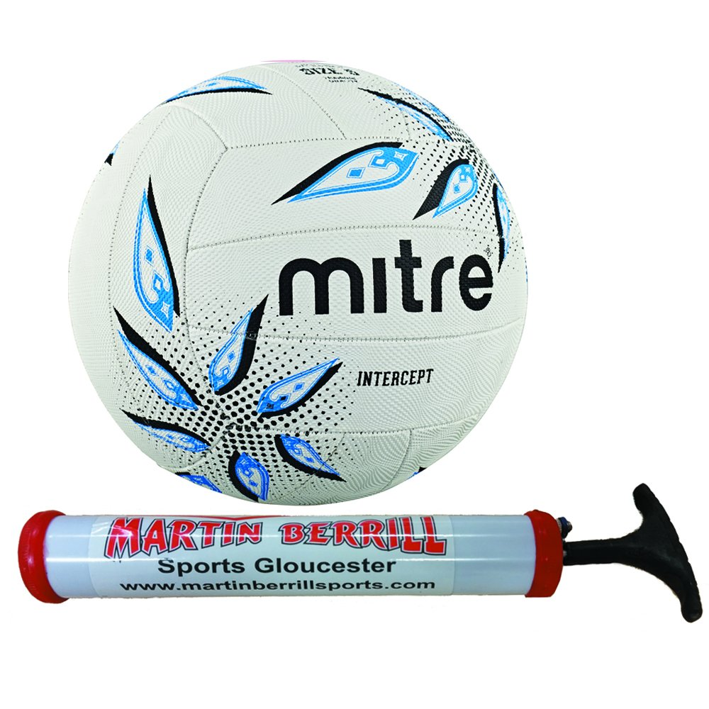 2016 Mitre Intercept Netball with Free Hand Pump