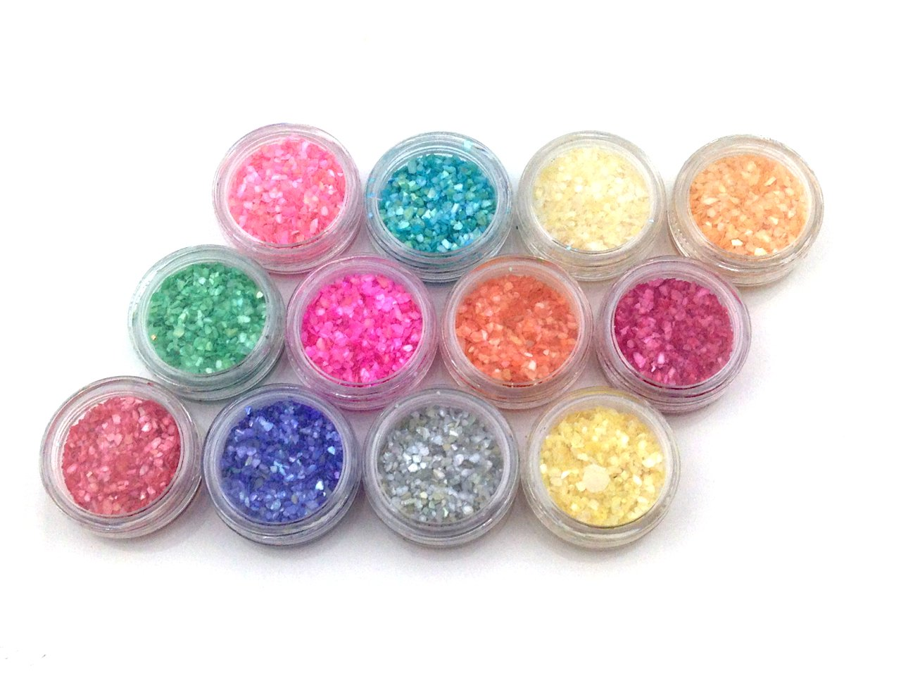 [Pink Gold Shop Square] shell powder all 12 colors set nail resin material