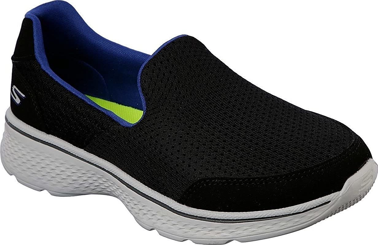 Skechers Go Walk 4 Trainers Kids Memory Foam Sports Childrens Boys Shoes 95710L