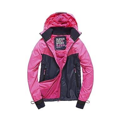 Superdry - Abrigo - para mujer rosa neón medium: Amazon.es: Ropa y accesorios