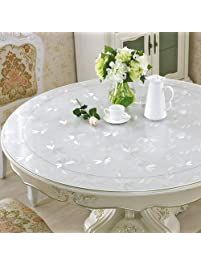 eco thick round tablecloth 60 round clear plastic tablecloth circle table protector furniture tabletop protective pad