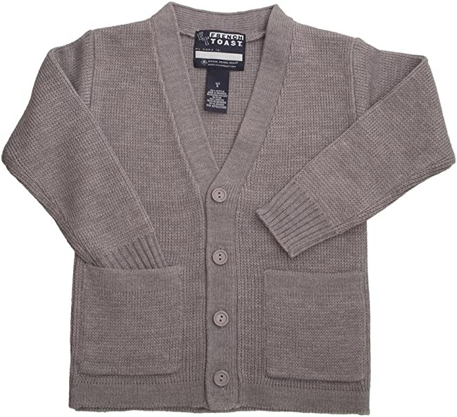 French Toast Boys Anti-Pill V-Neck Cardigan Sweater