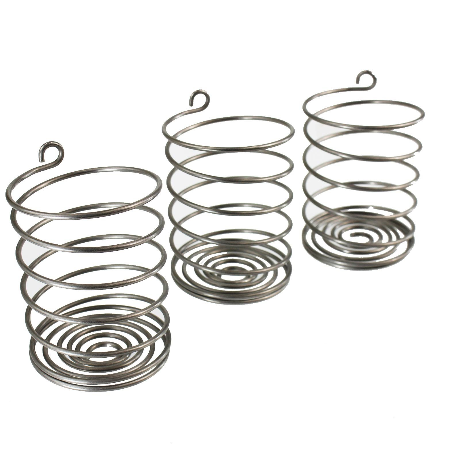 T&Co. Stainless Steel Pickle Helix Fermenter Weight Coils - Pack of 3 - For Wide Mouth Mason Jars Fermenting - Best Way To Hold Vegetables Under Water For Fermentation by Trellis & Co.