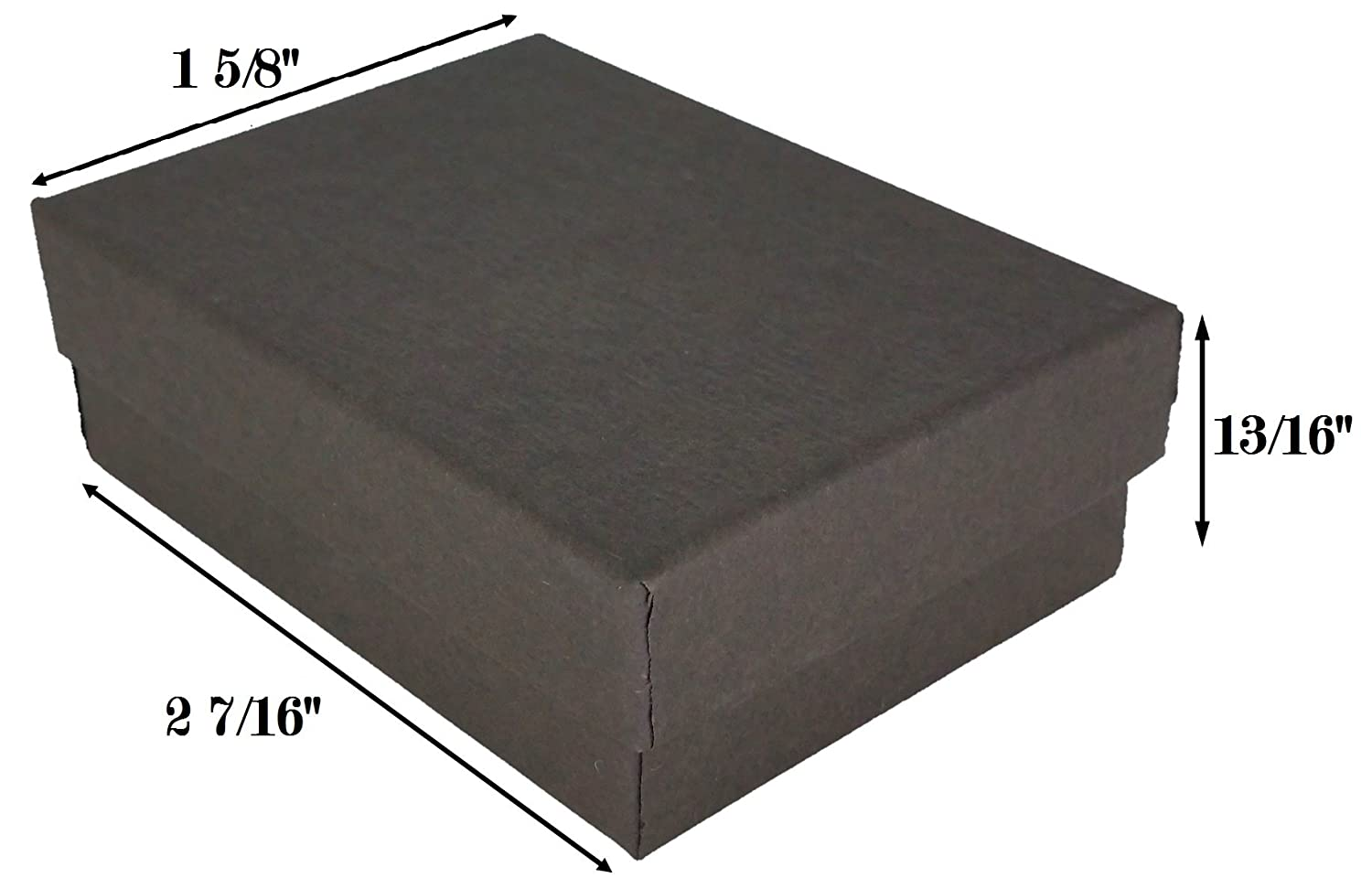 """50 Black Pinstripe Cotton Filled Jewelry Gift Boxes 1 7//8/"""" x 1 1//4/"""" x 5//8/"""""""