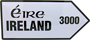 Westman Works Gifts Irish Street Road Sign 3000 Miles Metal Wall Decor Gift from Ireland