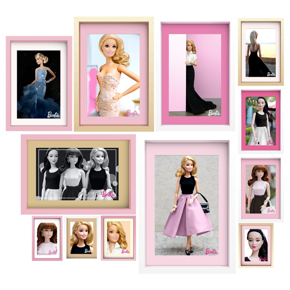 Barbie Large Faux Framed Photos Wall Decal Set