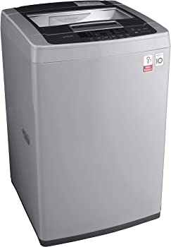LG 6.5 kg Inverter Fully-Automatic Top Loading Washing Machine(T7569NDDLH, Middle Free Silver)