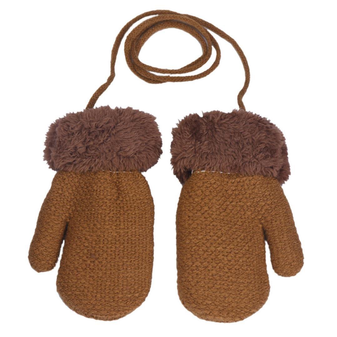BBsmile Neonato lascia i guanti caldi della ragazza K uomini e donne bambino tutti si riferiscono ai guanti