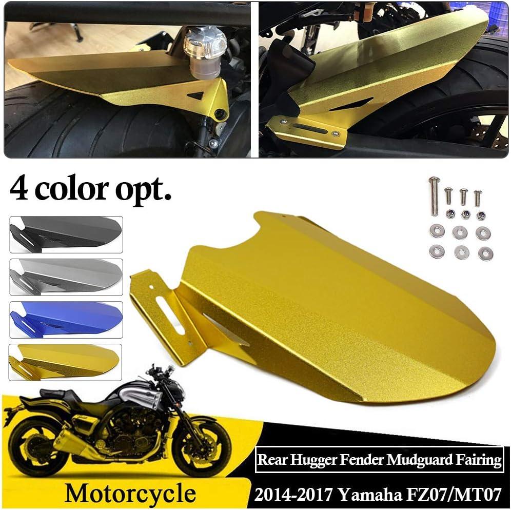 Grey FATExpress Motorcycle CNC Aluminum Rear Mudguard Fender Tire Hugger Fairing for 2014-2017 Yamaha FZ07 MT07 MT FZ 07 FZ-07 MT-07 2015 2016 2017 14-17