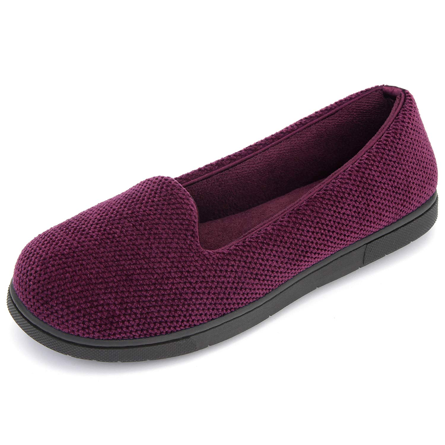RockDove Womens Chenille Lightweight Closed Back Slipper with Memory Foam