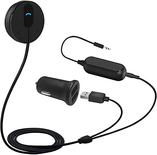 Basics Bluetooth Hands-Free Car Kit with 3.5mm Aux Jack