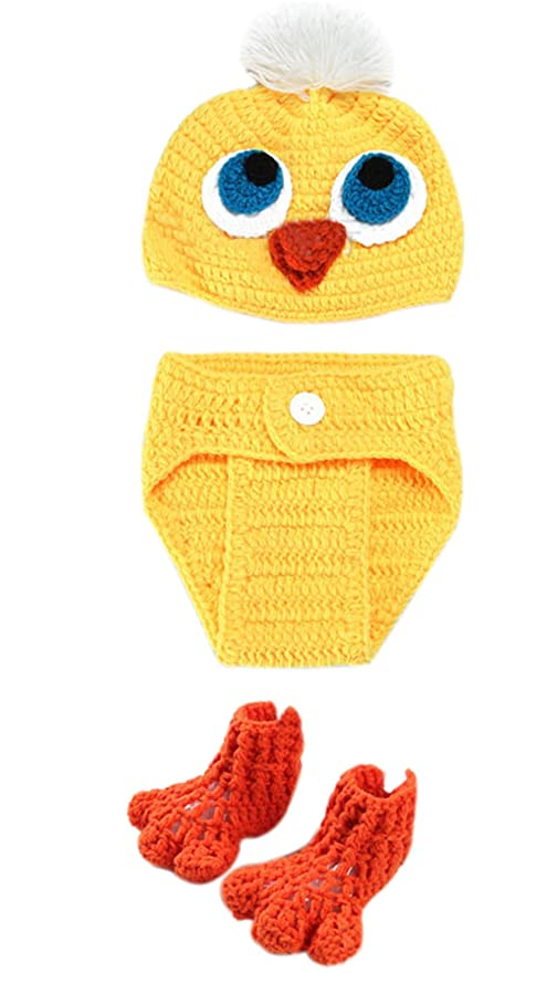Nine States New Born Baby Handmade Benie Chicken Costume Photograph Prop
