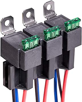 6 PACK 12V 5-pin Relay Harness with 30A ATO//ATC Blade Fuses /& SPDT Relays Kit