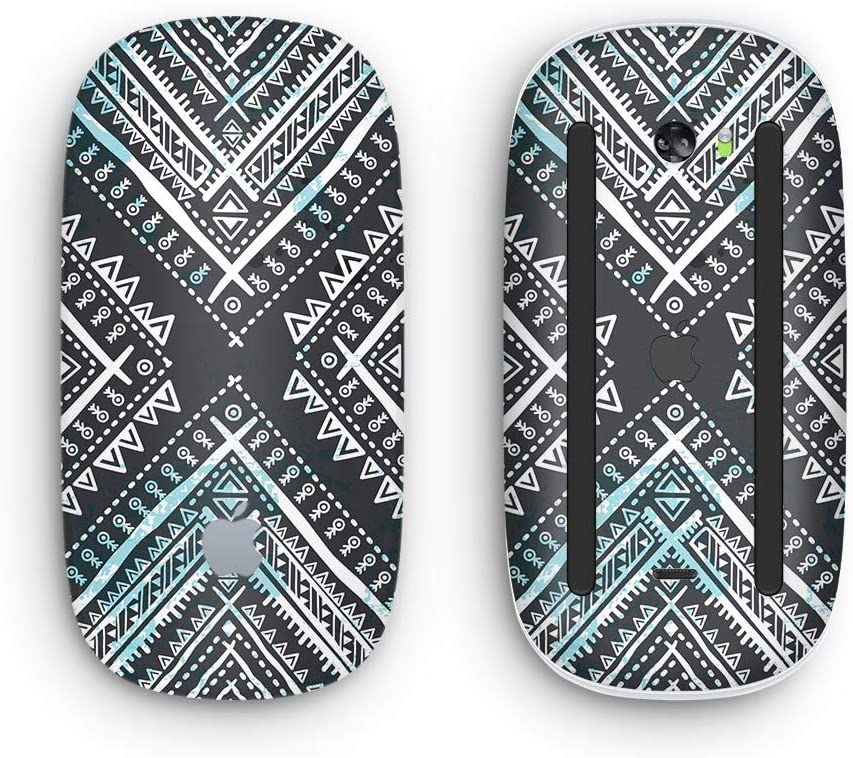 with Multi-Touch Surface Wireless, Rechargable Design Skinz Premium Vinyl Decal for The Apple Magic Mouse 2 Ethnic Aztec Navy Point