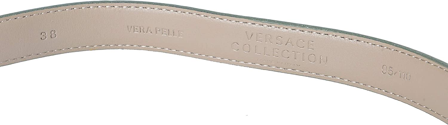Versace Collection 100/% Leather Gray Mens Belt US 95 IT 110