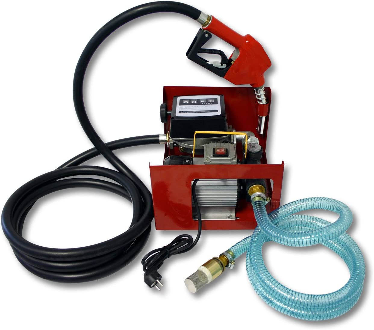 Bomba autocebante para Bio Diesel y gasóleo 230V/550W 60l/min con Pistola Maquinaria Calefacción