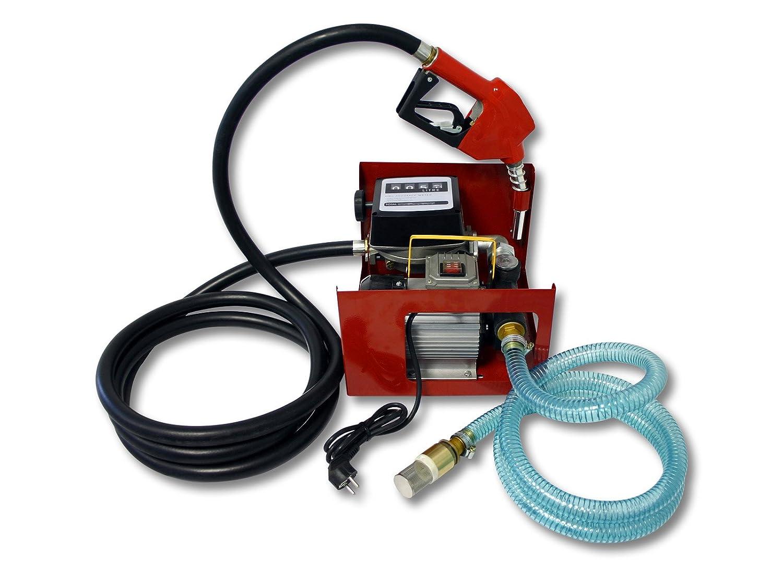 Wiltec - Bomba de gasolina o gasó leo autoaspiradora (20-60 L, 550 W, surtidor automá tico) surtidor automático) 50748