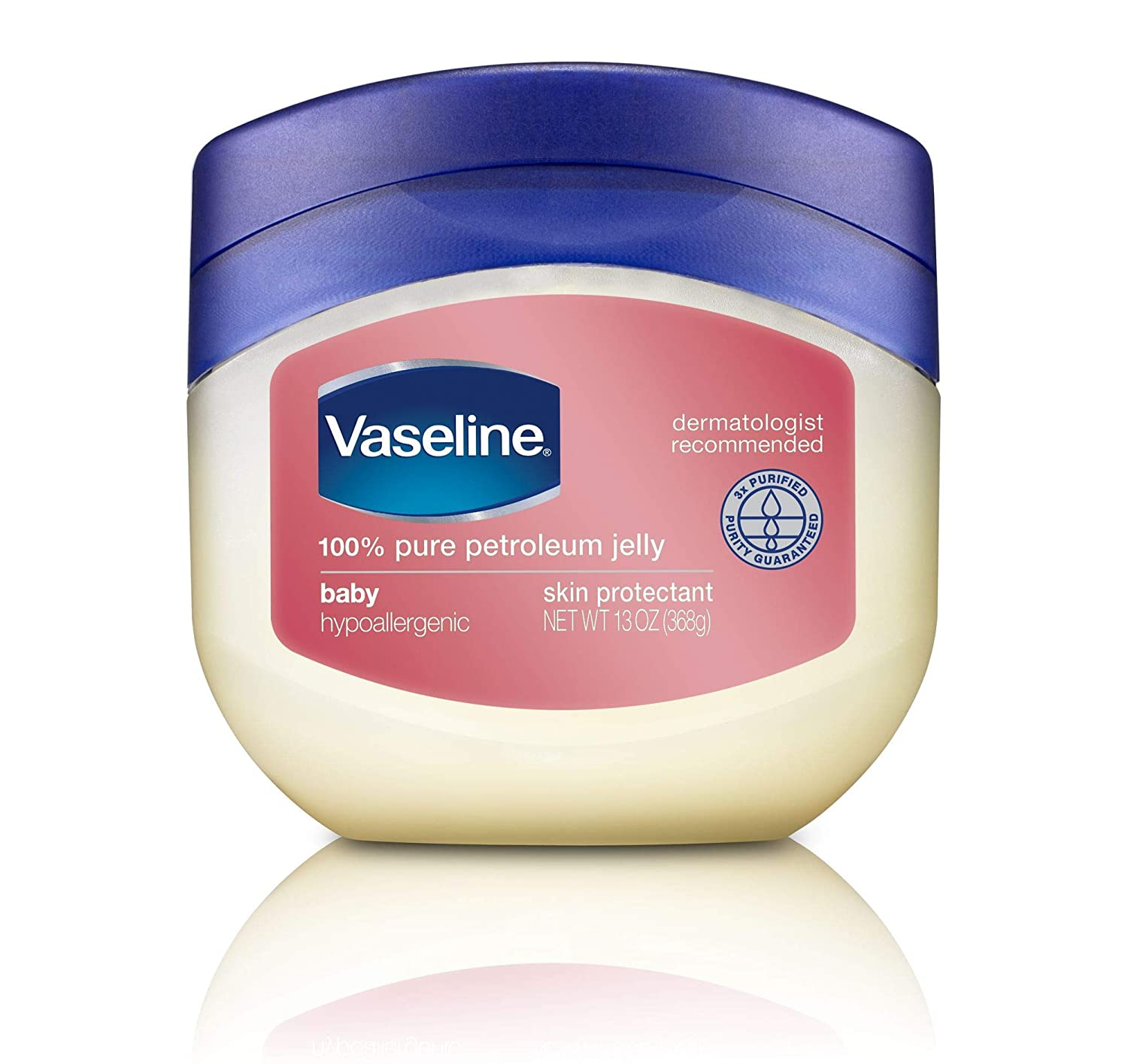 Vaseline Petroleum Jelly, Baby, 13 Oz, Pack of 4