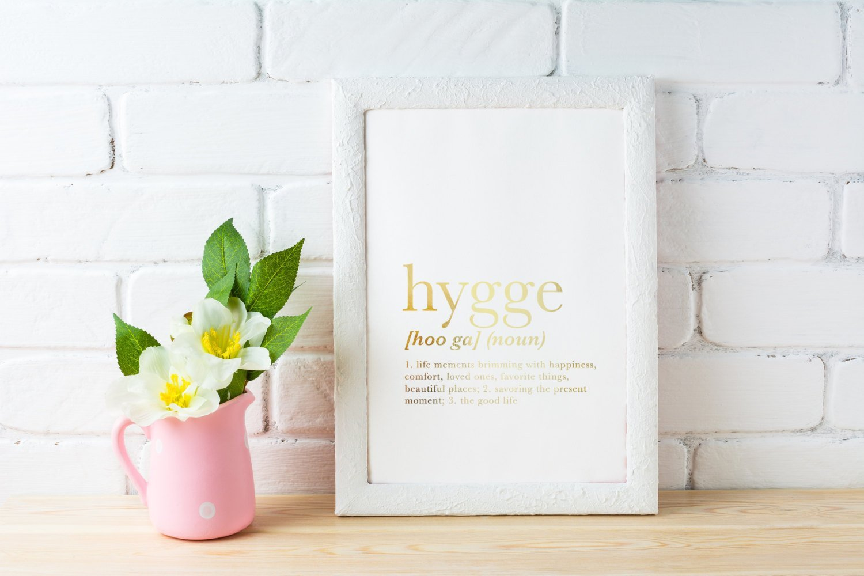 Hygge Definition, Definitiondruck, Hyggedruck, Echtgoldfolie, Hygge ...