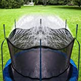 Bobor Trampoline Sprinkler for Kids, Outdoor Trampoline Backyard Water Park Sprinkler Fun Summer Outdoor Water Toys for Boys Girls. (39ft)