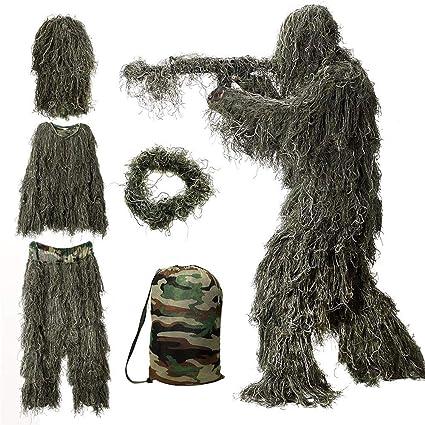 Amazon.com: CZJUN Ghillie Suit Camo Woodland Camouflage ...