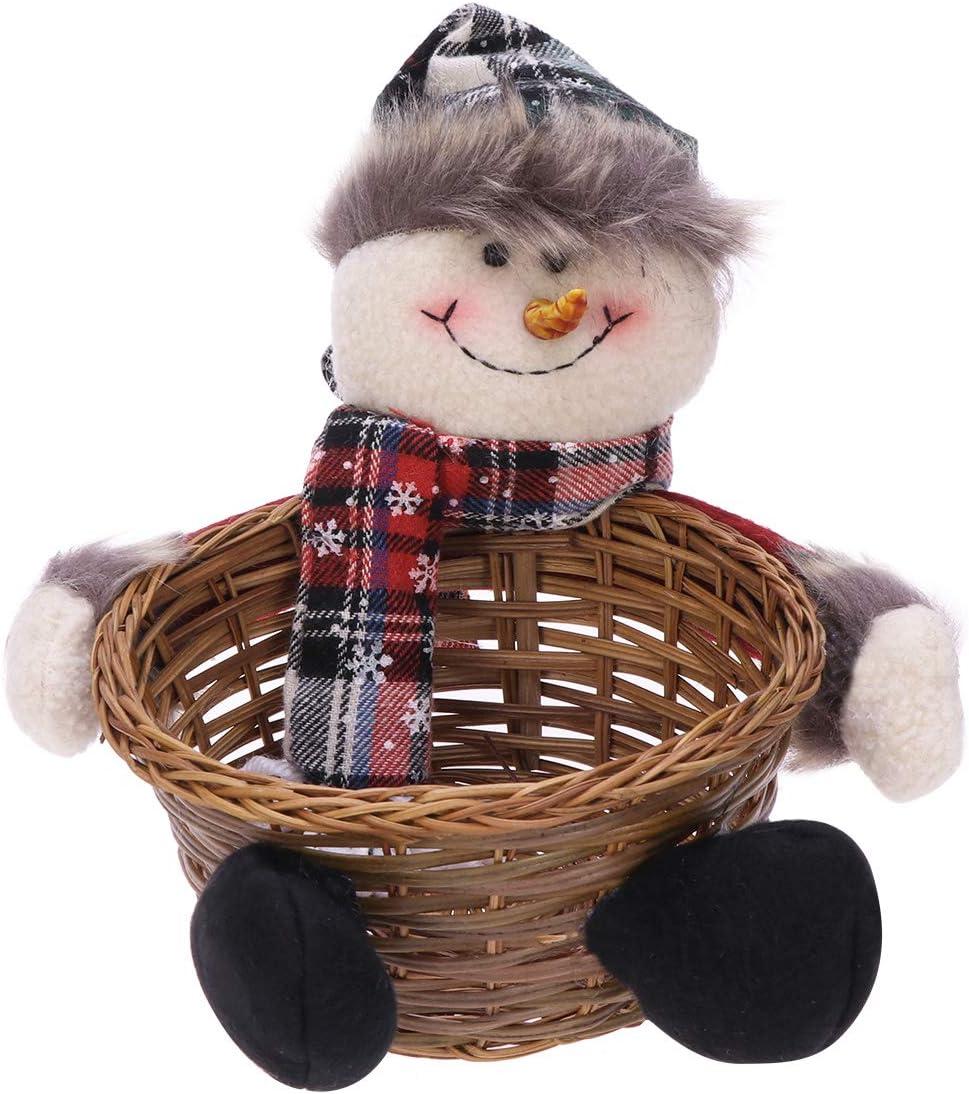Toyandona suministros de fiesta de Navidad medium Santa Claus Cesta de almacenamiento para dulces de Navidad decoraci/ón para fiestas