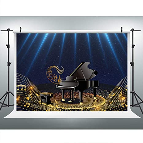 Amazon com : Piano Show Music Backdrop for Photography