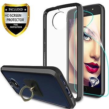 athchu Funda Moto G5S Carcasa con Protector de Pantalla HD + Soporte para teléfono, Cubierta Ultra Delgada Parachoques para Motorola Moto G5S Cover ...