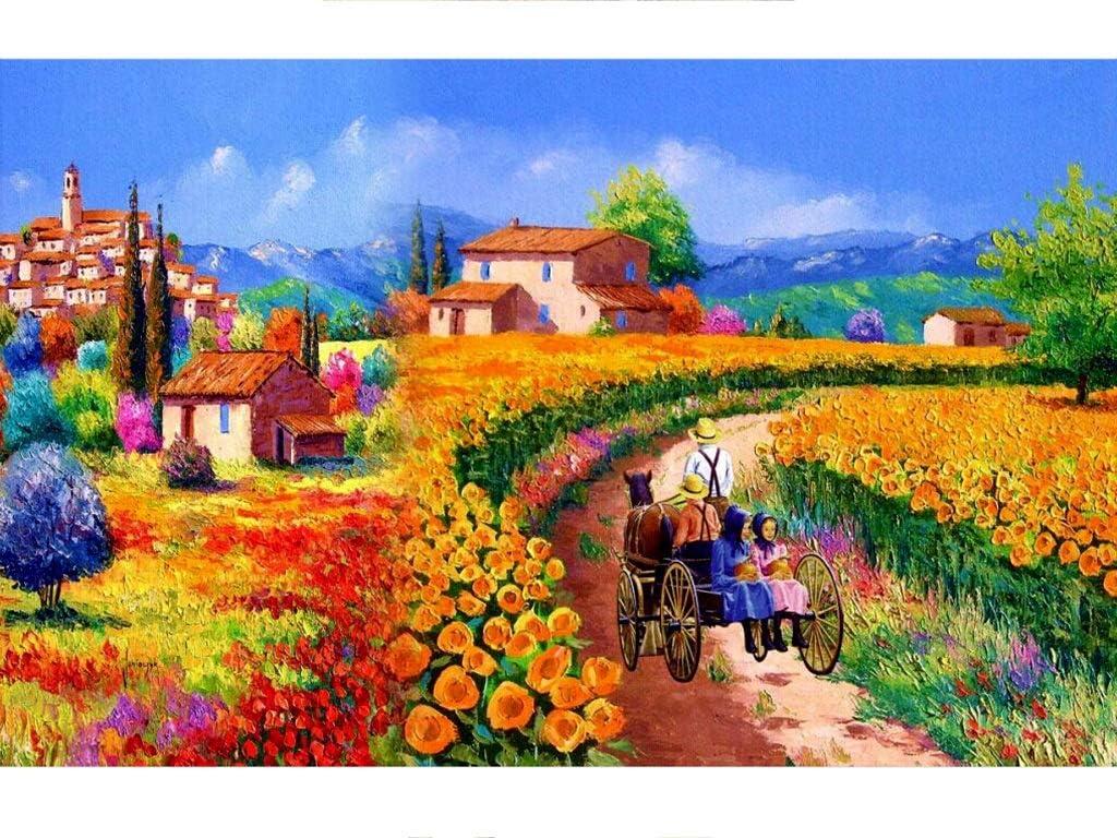 MuMa Rompecabezas De Paisaje for Adultos 1000/1500/2000/3000 Piezas- La Niña En El Carruaje Regalo De Juguetes Ensamblados Puzzle for Niños (Size : 5000 Pieces - 105.5×156.5CM)