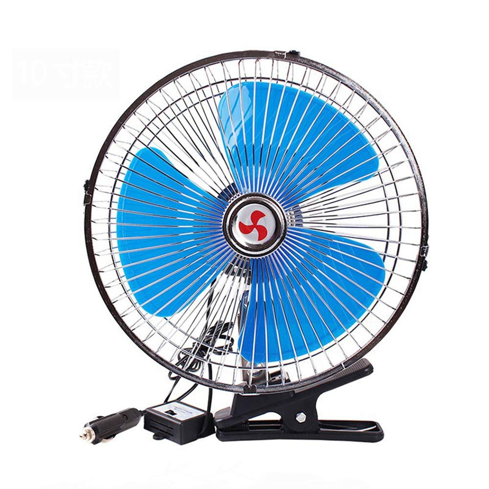 Fan 10 Inches Car, 12v/24v Car Universal Silent Swing, Rotatable Metal Clip, Car Rear Seat Cooling