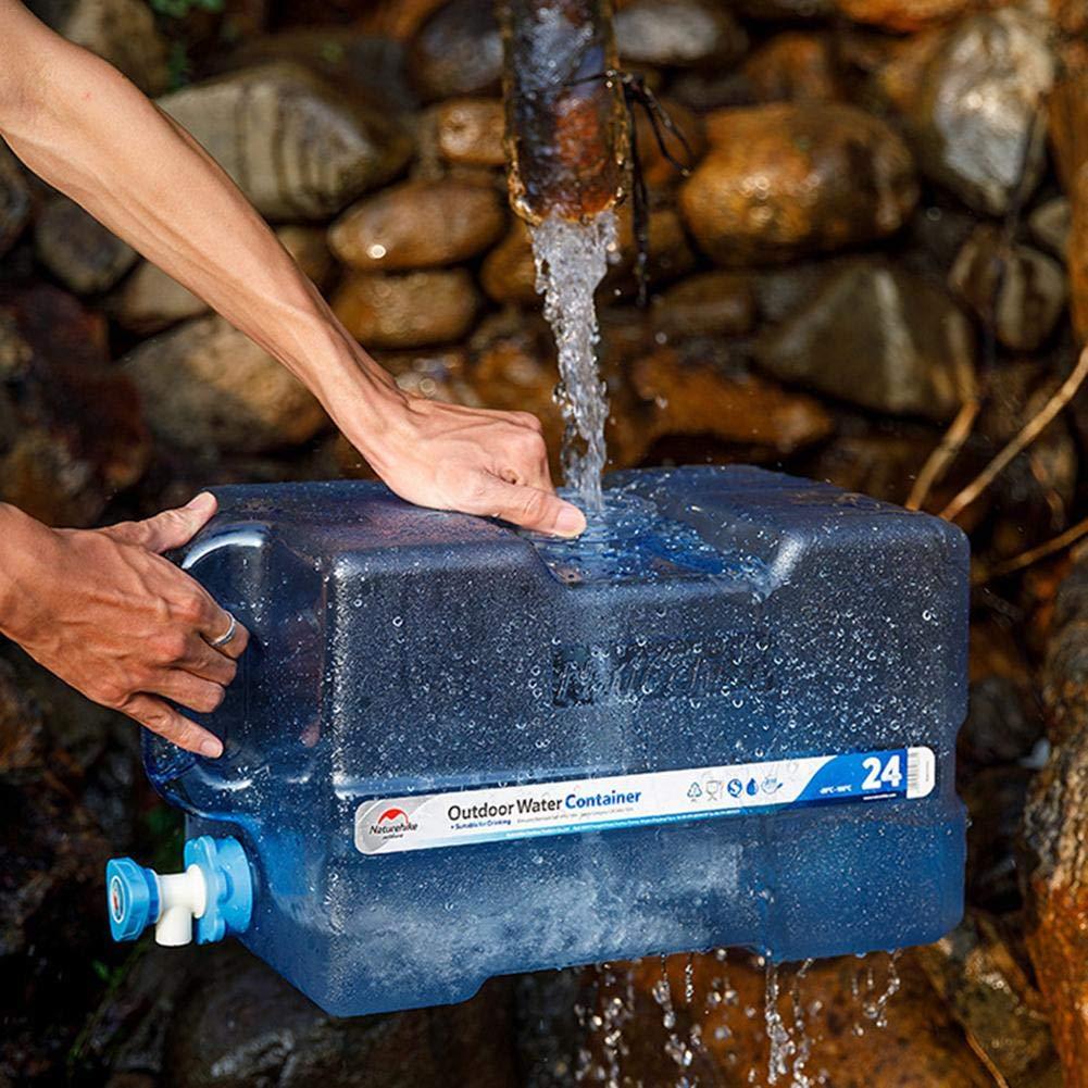 SinceY Contenedor de Agua Tanque de Almacenamiento Agua 24 L con Grifo Casa De Coche Ideal para Viajar Lata De Agua Conteor De Pl/ástico Grueso para El Transporte De Agua