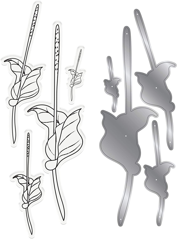 silber Natures Garden NG STD Lily Collection Stempel und Stanzformen-Set Verschiedene Gr/ö/ßen Calla-Lilien-Stiel