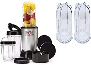 Blender, Small, Silver, 11 Piece Set… (13 Piece Blender Set with Blender Cups)