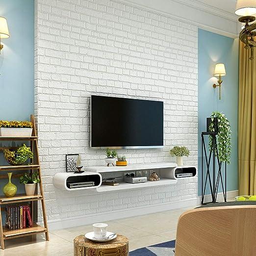 ZPWSNH Estante de Pared Mueble de TV montado en la Pared Estante ...