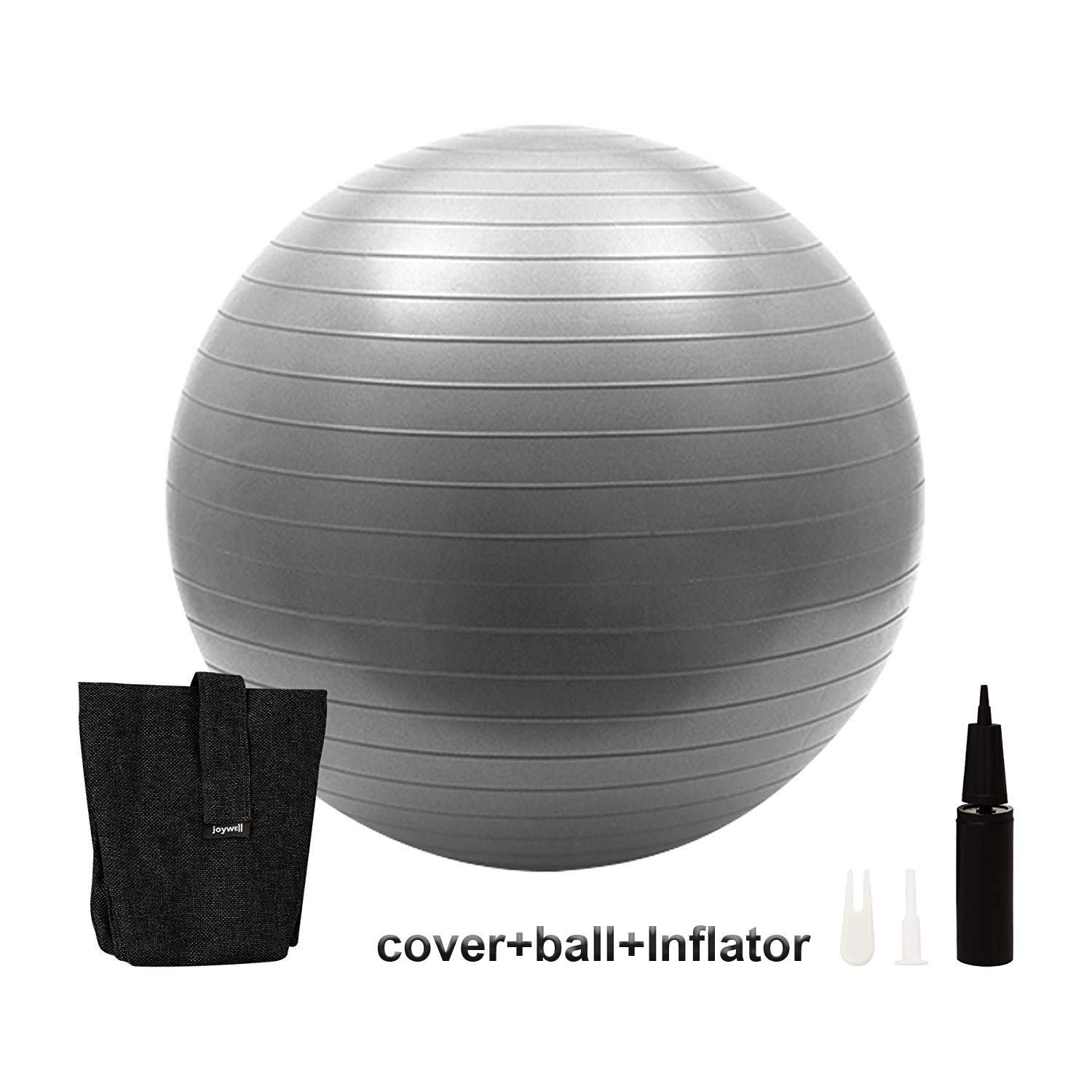 -Sitting Ball Chair with Handle for Home, Pilates, Yoga, Includes Exercise Ball with Pump Multi Function Foldable Storage Birthing Ball with Anti-Burst & Extra Thick,Stability Ball Supports (65-Black)