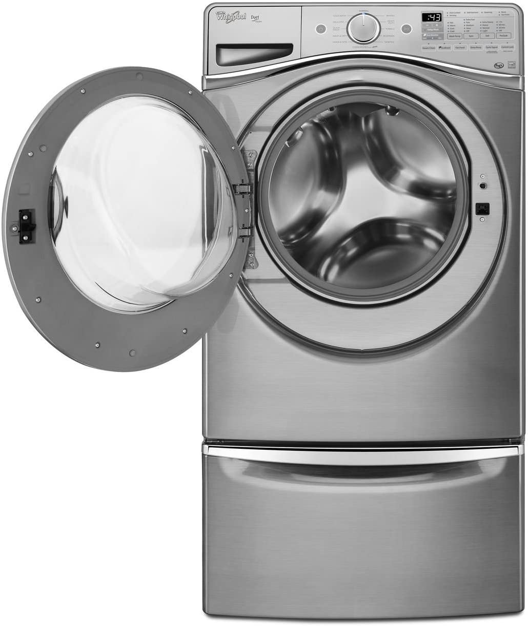 Whirlpool WFW95HEDC Independiente Carga frontal Plata lavadora ...