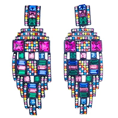 6fa43398fdcbd Butler & Wilson baguette stones crystal drop earrings