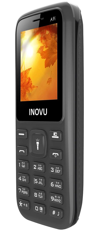 Inovu A9i Dual Sim Feature Mobile Phone with 800 mAh Battery (Black)