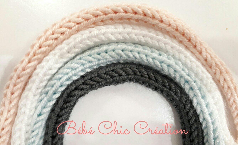 couleur au choix 6 lettres Pr/énom en tricotin