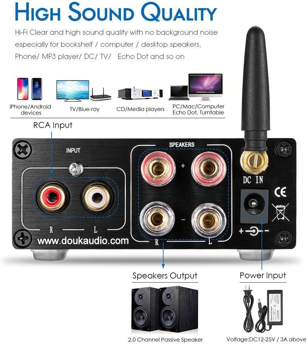 Nobsound Mini TPA3116 - Amplificador digital Hi-Fi estéreo, 200 W ...