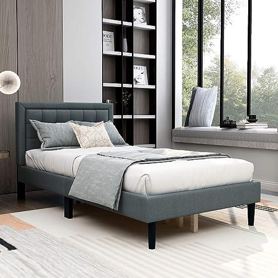 AUFANK Upholstered Platform Bed
