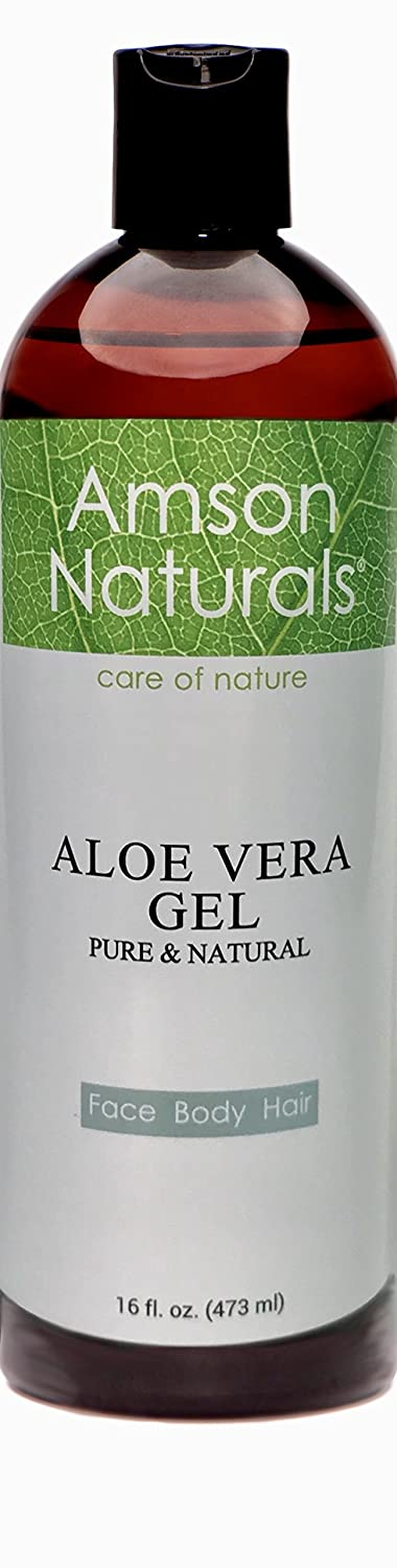 ALOE VERA GEL - 16oz/ 473 ml – fresh from Aloe Vera leafs Cold Pressed – for Face Body Hair - soothes Skin irritations, Sunburns, Razor burn, Rashes, Scalp itchiness, Cracked cuticles,Dandruff,Rashes and insect bites. Excellent Aftershave, Hair gel or leav