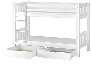Erst-Holz Cama Blanco litera para niños con colchones de 90 X 200 con Box portaobjetos 60.06 - 09wms2: Amazon.es: Hogar