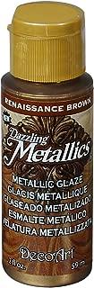 product image for DecoArt Dazzling Metallics Glazes Paint, 2-Ounce, Renaissance Brown
