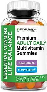 Premium Essential Multivitamin with Vitamins C & Zinc for Immune & Energy Support   Delicious Complete Daily Vitamin Gummy for Men & Women   Non-GMO, Pectin, Animal Free, Allergen Free, Gluten Free*