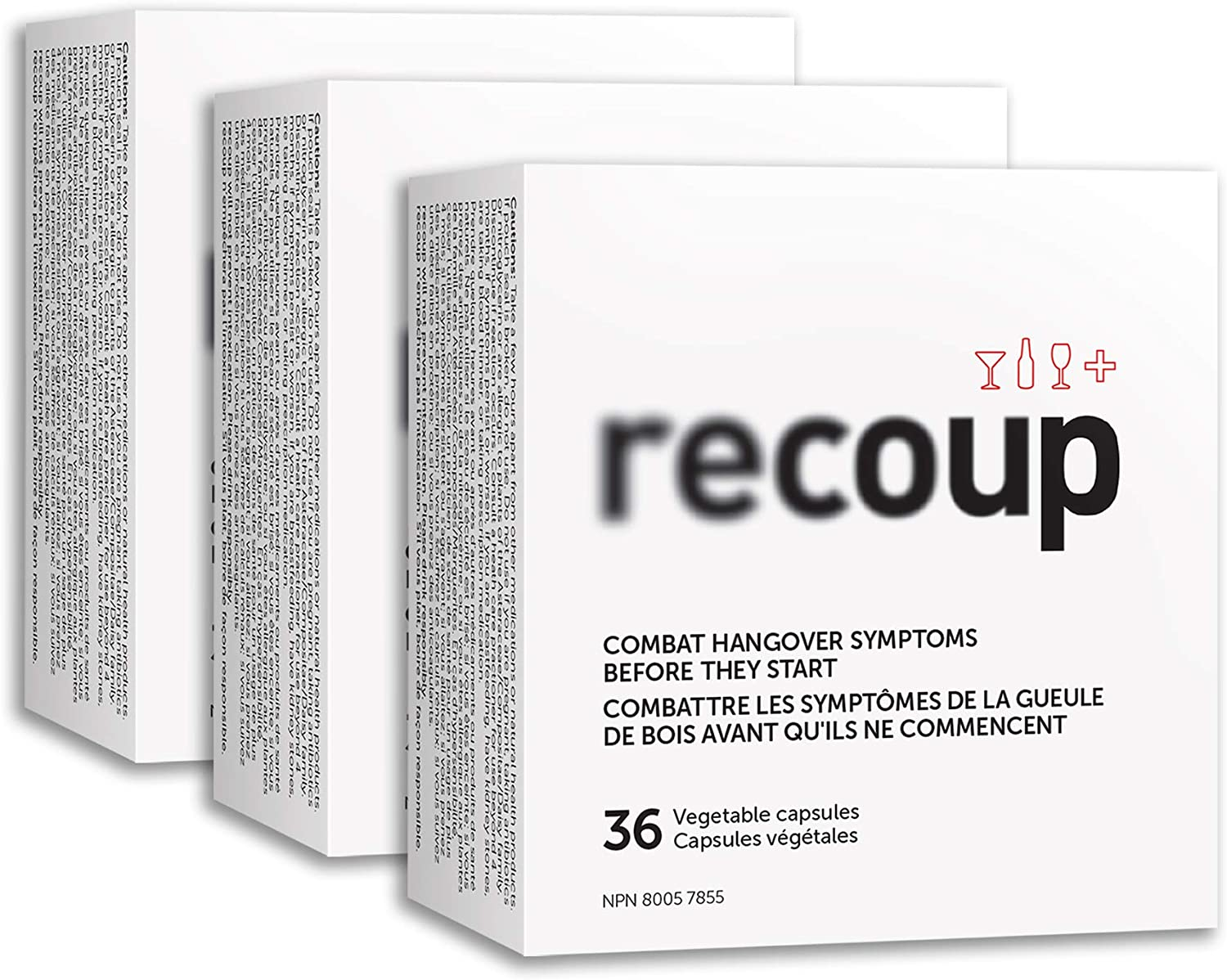 Recoup Hangover Remedy 3 Box Multipack Combat 18 Hangovers Doctor formulated
